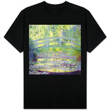 Japon Köprüsü ve Nilüfer Göleti, 1899 - T-shirt