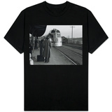 The Burlington Zephyr, East Dubuque, Illinois, c.1940 T-Shirt