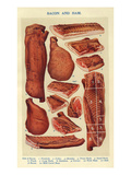 Bacon and Ham, Isabella Beeton, UK Poster