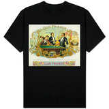 Club Friends Brand Cigar Box Label, Billards T-Shirt