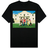 The Rolling Stones June 1975 , Mick Jagger in Alamo, Texas. Usa Shirts