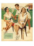 Tennis, Maudson, 1953, UK Gicleetryck
