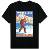 Skier Carrying Snow Skis, Whistler, BC Canada T-Shirt