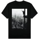 Man Waving from Empire State Building Construction Site T-Shirt