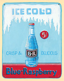 Ice Cold Blue Raspberry Wall Sign