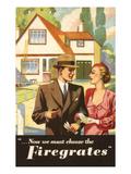 Till & Kennedy Firegrates, UK Giclee Print