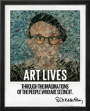 Art Lives Framed Photographic Print by Keith Haring