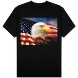 Bald Eagle Head and American Flag T-shirts