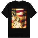 Statue of Liberty and American Flag Shirt