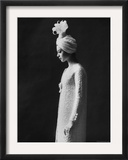 Model Wearing Costume from Collection of Famous Designers Framed Photographic Print by Paul Schutzer