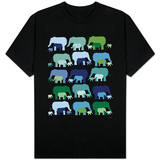 Cool Elephant Pattern T-Shirt