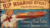 Chris Craft Vintage Wood Sign