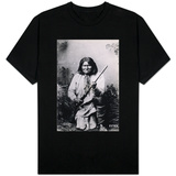Geronimo Holding a Rifle, 1884 T-shirts