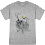 Shaggy Dog with Butterfly T-shirts