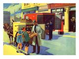 Infant School Illustrations, UK Giclee Print