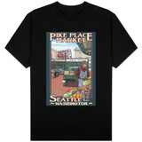Pike Place Market, Seattle, Washington Shirts