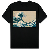 "The Great Wave of Kanagawa, from the Series ""36 Views of Mt. Fuji"" (""Fugaku Sanjuokkei"") Shirt"