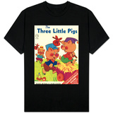 The Three Little Pigs T-paita