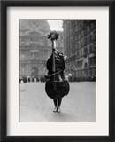 Walking Violin in Philadelphia Mummers' Parade, 1917 Framed Photographic Print by  Bettmann