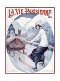 La Vie Parisienne, Maurice Milliere, 1923, France - Giclee Baskı