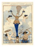 La Vie Parisienne, George Barbier, 1916, France Photo