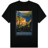 La Riviera Italienne: From Rapallo to Portofino Travel Poster - Portofino, Italy T-shirts