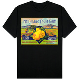 Bancroft, California, Mt. Diablo Fruit Farm Brand Pear Label T-shirts