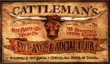 Cattleman's Vintage Wood Sign