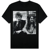 Bob Dylan American Folk Singer with Joan Baez in the Savoy Gardens on the Thames Embankment, 1965 T-shirts