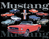 Mustang Collage Plakietka emaliowana