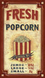 Popcorn Vintage Wood Sign
