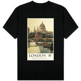 London, England - Great Western Railway St. Paul's Travel Poster T-shirts