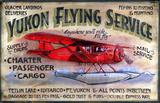 Yukon Flying Vintage Wood Sign