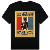 The U.S. Marines Want You, circa 1917 T-shirts