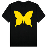 Large Yellow Butterfly Shirts