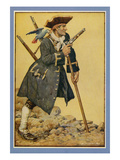 Pirates, Robert Louis Stephenson, UK Kunstdrucke