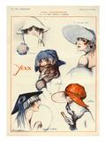 La Vie Parisienne, Julien Jacques Leclerc, 1922, France Giclee Print