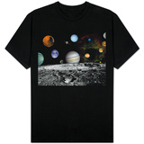 Solar System Montage of Voyager Images Photograph - Outer Space T-shirts