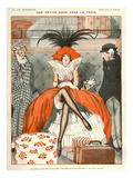 La Vie Parisienne, Julien Jacques Leclerc, 1920, France Giclée-tryk