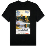 Windsor, England - British Railways Windsor Castle Thames Poster T-shirts