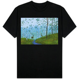 Two Deer on Forest Path T-Shirt