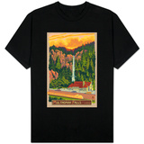 Multnomah Falls Lodge, Oregon T-shirts