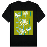 Green and Blue Color Print with Flowers and Butterfly Shirts