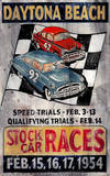 Stock Car Vintage Wood Sign