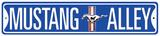 Mustang Alley Plaque en métal