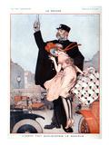 La Vie Parisienne, Julien Jacques Leclerc, 1920, France Art