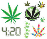 Marijuana Decals Stickers