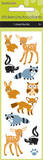 Woodland Animals Puffy Fuzzy Slim Stickers Stickers