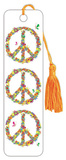Floral Peace Sign Tasseled Bookmark Bookmark