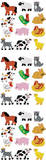Farm Animals Slim Stickers Stickers